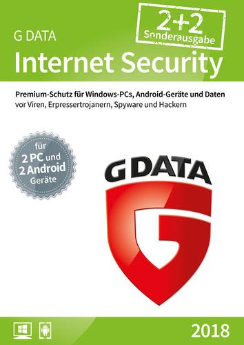Verpackung von G Data Internet Security 2018 - 2+2 - 12 Monate [MULTIPLATFORM]