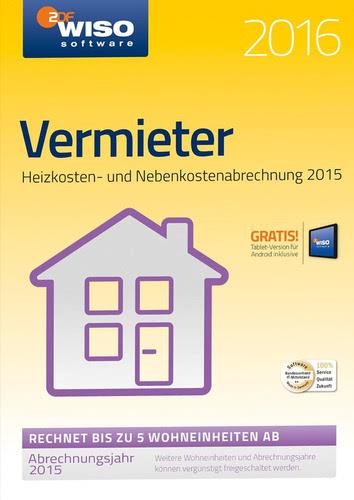 Verpackung von WISO Vermieter 2016 [PC-Software]