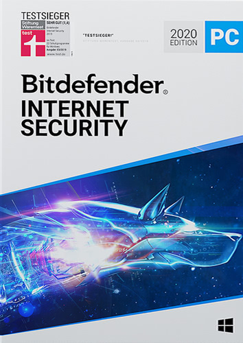 Verpackung von Bitdefender Internet Security - 1 User / 12 Monate [PC-Software]