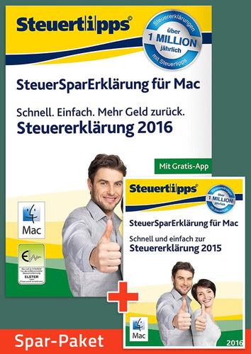 Verpackung von Sparpaket: SteuerSparErklärung 2016 + 2017 für Mac [Mac-Software]