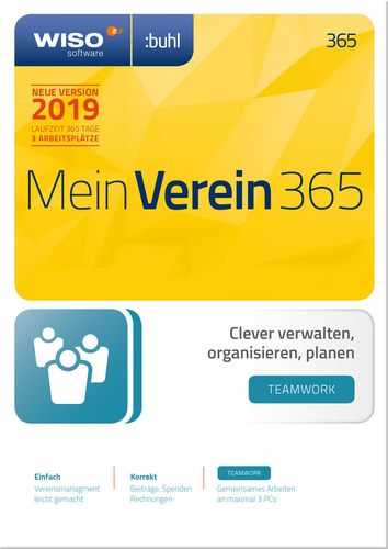 WISO Mein Verein 365 – teamwork – Edition (2019) (Download), PC