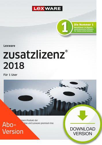 Lexware zusatzlizenz 2018 für Produkte der professional und premium line Download – Abo Version für 1 User