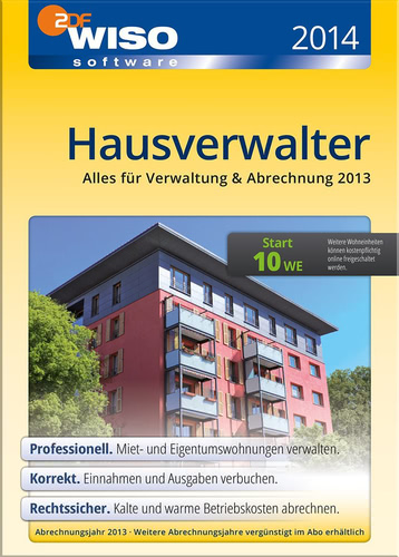 Verpackung von WISO Hausverwalter 2014 Start [PC-Software]