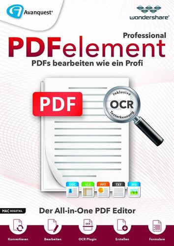 Verpackung von Wondershare PDFelement 6.5 Professional inkl OCR Texterkennung für Mac - lebenslange Lizenz [Mac-Software]