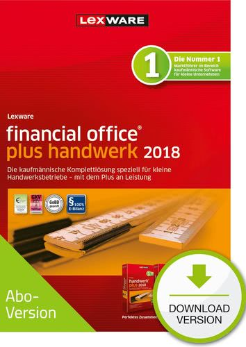 Verpackung von Lexware financial office plus handwerk 2018 Download - Abo Version [PC-Software]