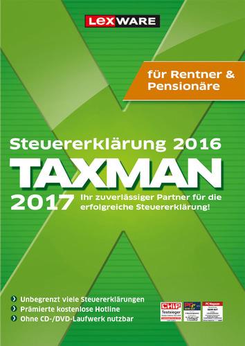 Verpackung von TAXMAN 2017 Rentner&Pensionäre (für Steuerjahr 2016) [PC-Software]