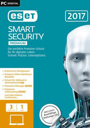 Verpackung von ESET Smart Security Premium 2017 Edition - 3 Nutzer 12 Monate [PC-Software]