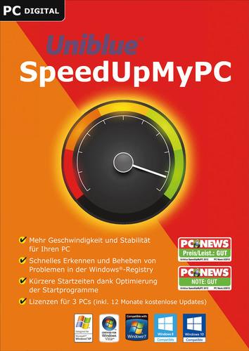 Verpackung von Uniblue SpeedUpMyPC 2017 [PC-Software]