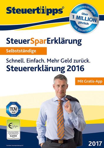 Verpackung von SteuerSparErklärung für Selbstständige 2017 (für Steuerjahr 2016) [PC-Software]