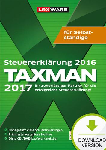 Verpackung von TAXMAN 2017 für Selbstständige (für Steuerjahr 2016) [PC-Software]