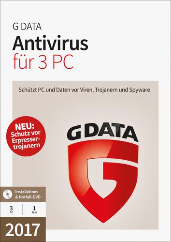 Verpackung von G Data Antivirus 2017 - 3 Benutzer - 12 Monate [PC-Software]