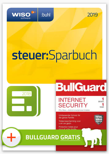 WISO steuer:Sparbuch 2019 (inkl. BullGuard Internet Security 2019 1 Gerät) (Download), PC