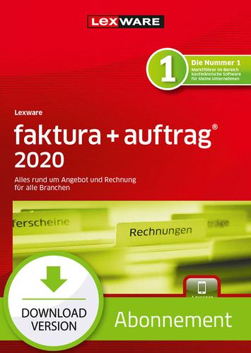 Verpackung von Lexware faktura + auftrag 2020 Download - Abo Version [PC-Software]