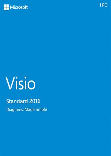 Microsoft Visio Standard 2016 Medialess German