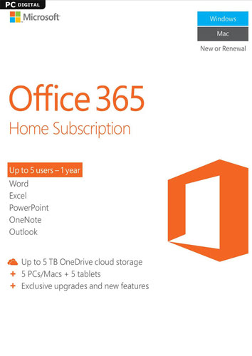 Packaging by Microsoft Office 365 Home [MULTIPLATFORM]