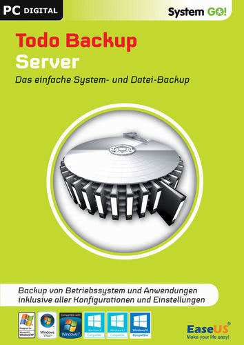 Verpackung von EaseUS System GO! Todo Backup Server [PC-Software]