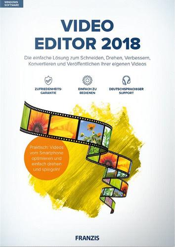 Verpackung von Franzis Video Editor 2018 [MULTIPLATFORM]