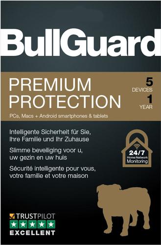 Verpackung von BullGuard Premium Protection 2019 5 Geräte 12 Monate [MULTIPLATFORM]
