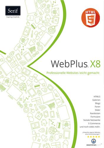 Verpackung von Serif WebPlus X8 [PC-Software]