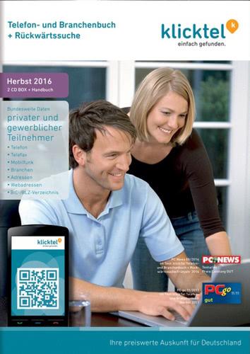 Verpackung von KlickTel Telefon- und Branchenbuch inkl. Rückwärtssuche Herbst 2016 [PC-Software]