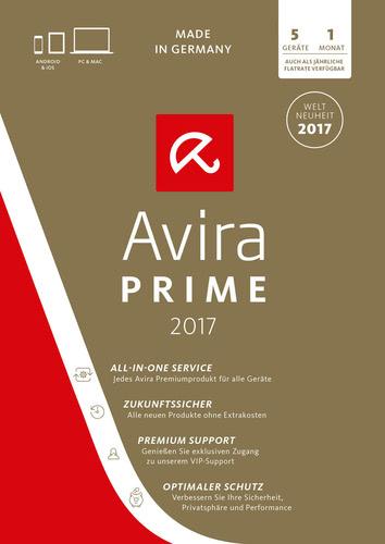 Avira Prime 2018 5 Geräte / 1 Monat
