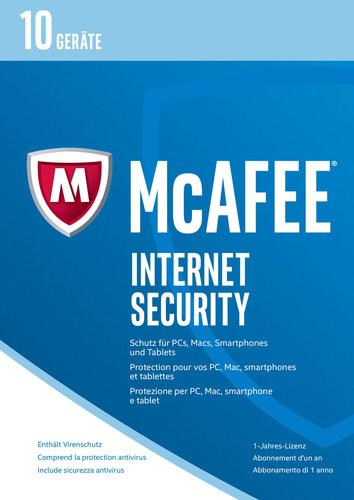Verpackung von McAfee Internet Security 2017 10 Geräte / 12 Monate [PC-Software]