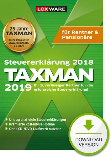 Verpackung von TAXMAN 2019 Rentner & Pensionäre [PC-Software]