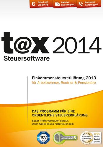 Verpackung von t@x Steuersoftware 2014 (für Steuerjahr 2013) [PC-Software]