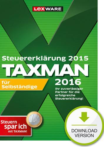 Verpackung von TAXMAN 2016 für Selbstständige  (für Steuerjahr 2015) [PC-Software]