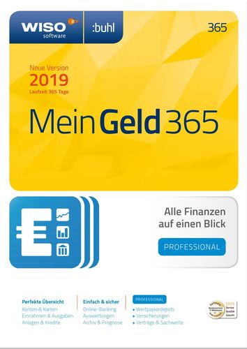 Verpackung von WISO Mein Geld Professional 365 Tage (Version 2019) [PC-Software]