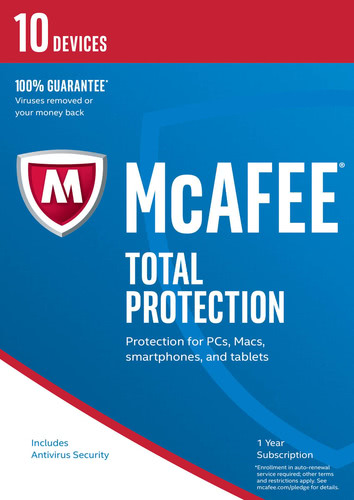 Packaging by McAfee Total Protection 2017 10 Devices / 12 Months [PC-software]