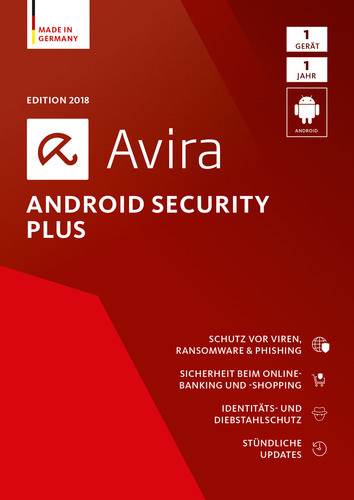 Avira Android Security Plus 2018 1 Geräte / 12 Monate