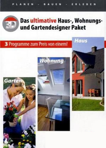Das ultimative Haus-, Wohnungs-, Gartendesigner Paket (Download), PC