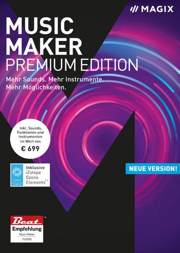 Verpackung von Magix Music Maker Premium (2018) [PC-Software]