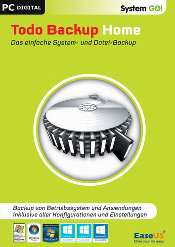 Verpackung von EaseUS System GO! Todo Backup Home [PC-Software]