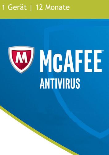 Verpackung von McAfee AntiVirus 2017 (Basic) 1 Gerät / 12 Monate [PC-Software]