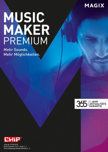 Verpackung von Magix Music Maker Premium (2016) [PC-Software]