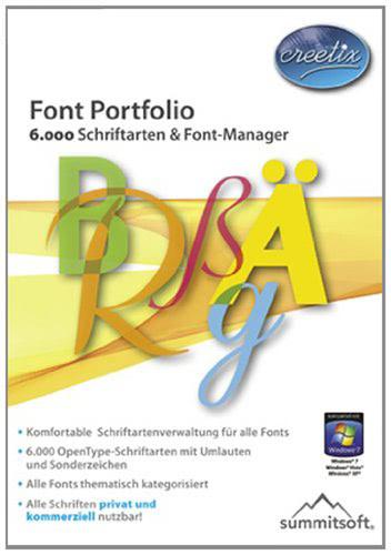 Verpackung von Font Portfolio [PC-Software]
