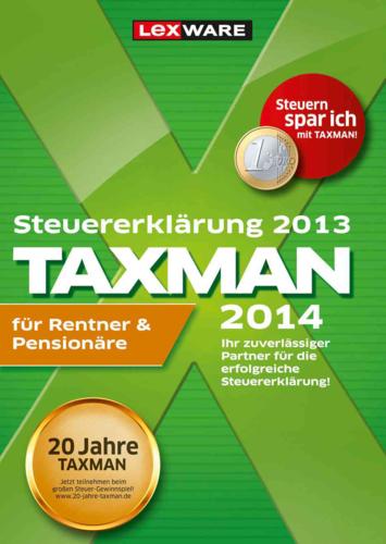 TAXMAN 2014 für Rentner & Pensionäre (für Steuerjahr 2013)