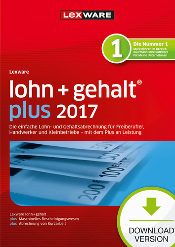 Lexware lohn+gehalt plus 2017 Jahresversion (365-Tage)