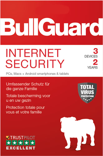 Verpackung von BullGuard Internet Security 2019 3 Geräte 24 Monate [MULTIPLATFORM]