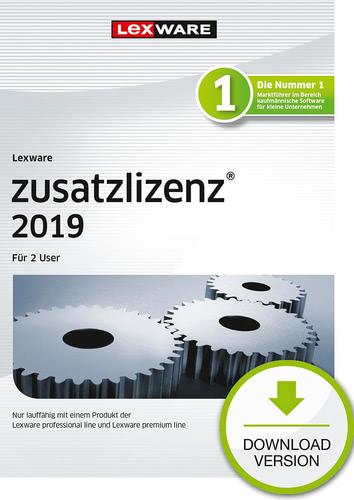 Verpackung von Lexware zusatzlizenz 2019 für 2 User [PC-Software]