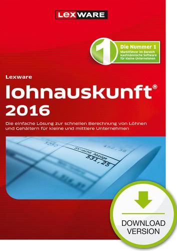 Verpackung von Lexware lohnauskunft 2016 [PC-Software]