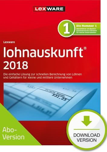 Verpackung von Lexware lohnauskunft 2018 Download - Abo Version [PC-Software]