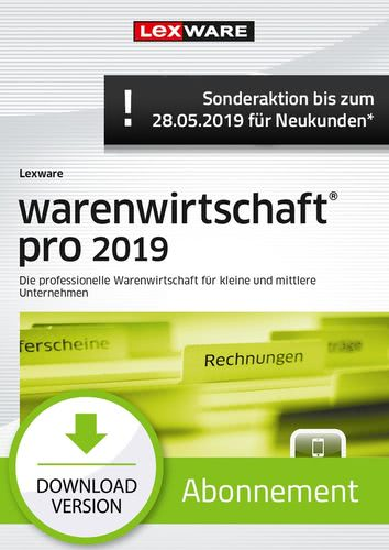 warenwirtschaft pro 2019 Abonnement (Aktionspreis) (Download), PC
