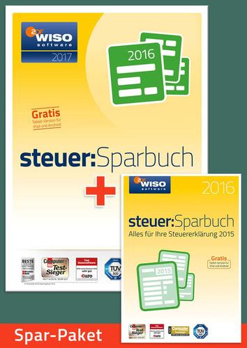 Verpackung von Sparpaket: WISO steuer:Sparbuch 2017 (für die Steuerklärung 2016) + WISO steuer:Sparbuch 2016 (für die Steuererklärung 2015) [PC-Software]