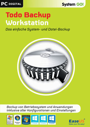 Verpackung von EaseUS System GO! Todo Backup Workstation [PC-Software]