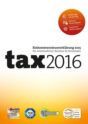 Verpackung von tax 2016 (für Steuerjahr 2015) [PC-Software]