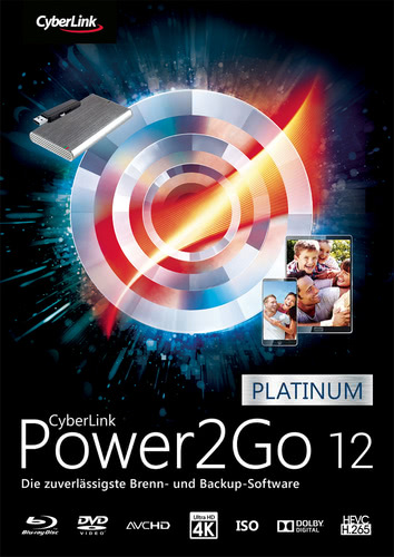 Verpackung von Power2Go 12 Platinum [PC-Software]