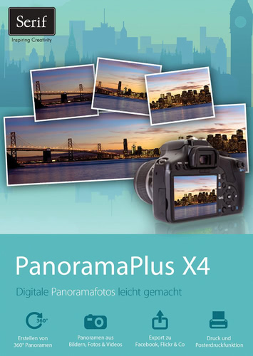 Verpackung von Serif PanoramaPlus X4 [PC-Software]